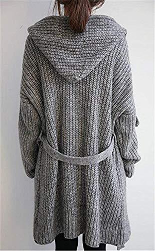 Chic Chic Invernali Donna Maglia Autunno MOD MOD MOD Cappotto A Irinay 1 Grau Cardigan Lunga Casual UwZqC4