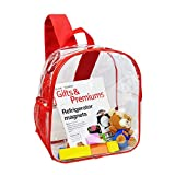 Stadium Approved Clear Backpack Heavy Duty/Cold-Resistant Transparent Backpack for Concert, Security Travel &Stadium(Red)
