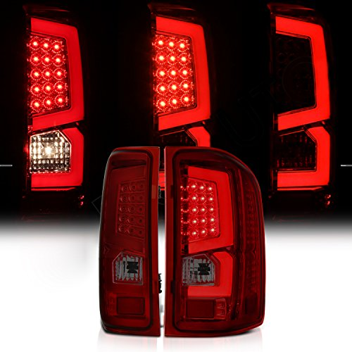 07-09 Chevy Silverado 1500 Pickup Truck Smoke Red LED Tail Brake Lamp C-streak Rear (Chevy Silverado 1500 Pickup Tail)
