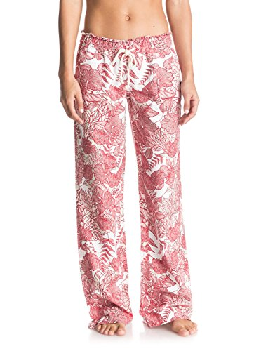 Roxy Junior's Oceanside Printed Pant, Scarlet Amazone Flowers, Small