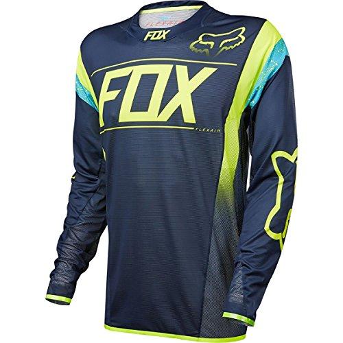 Flexair Jerseys (Fox Racing Flexair DH Jersey - Long Sleeve - Men's Kroma Navy, XL)