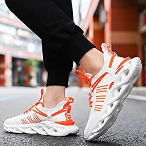 Verna Polly Mens Running Shoes Fashion Mesh Ultra Lightweight Sport Gym Shoes Mens Cross Training Slip-On Casual Shoes for Walking