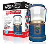 LED Camping Lantern - Tough Light LED Rechargeable Lantern - 200 Hours of Light From a Single Charge, Longest Lasting on Amazon! Camping and Emergency Light with Phone Charger - 2 Year Warranty (Blue)