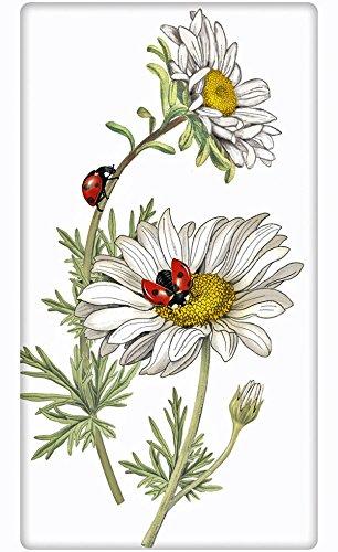 Daisy Ladybug 100% Cotton Flour Sack Dish Tea Towel - Mar...