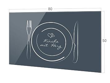 Grazdesign Fliesenspiegel Kuche Spruch Kuche Mit Herz Glasruckwand