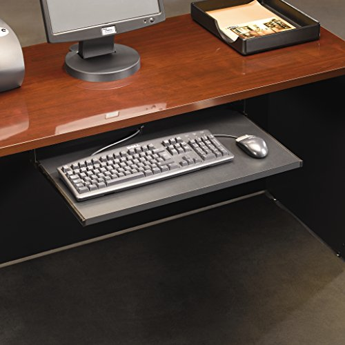 Sauder 401527 Via Keyboard Shelf , Soft Black (Underdesk Keyboard Tray)