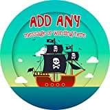 Pirate Ship Sticker Labels (24 Stickers, 4.5cm Each) Personalised Seals Ideal for Party Bags, Sweet...