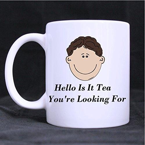 Hello este té de máquina de escribir la prenda ideal para-carcasa café taza de porcelana, 11-ml blanco: Amazon.es: Hogar