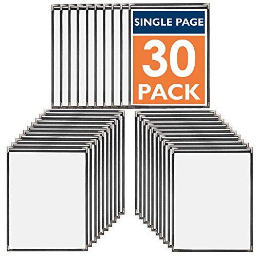 30 Pack of Menu Covers - Single Page, 2 View, Fits 8.5 x 11 Inch Paper - Restaurant Menu Covers