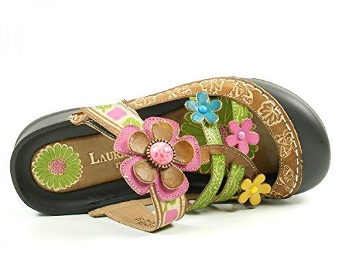 femme sandale Vita Laura Phenix Braun cuir kaki qP4w1Utw