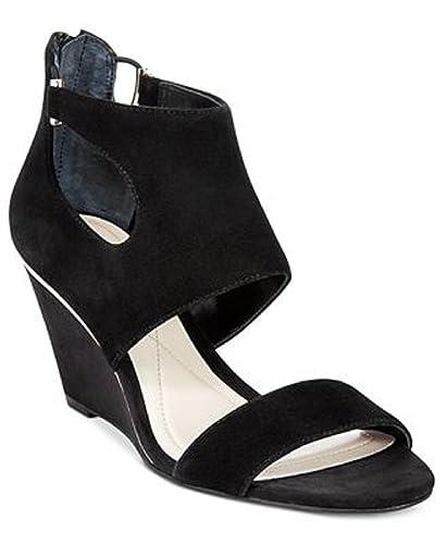 4233731b6b Amazon.com   Alfani Women's Giah Wedge Sandals, Suede Women's Shoes Black  7.5M   Platforms & Wedges