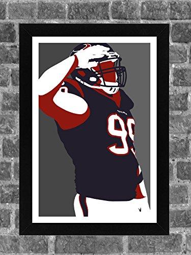 Houston Texans J.J. Watt Portrait Sports Print Art 11x17 (Arts Watts)