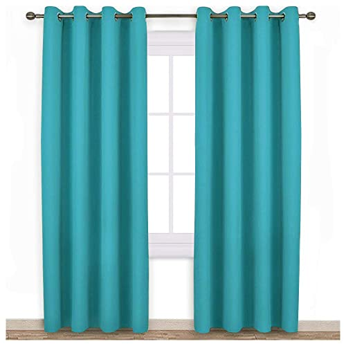Shades Of Blue Curtains For Living Room Amazon Com