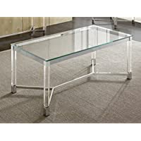Cocktail Table with Acrylic Legs
