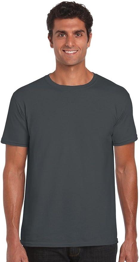 Gildan - Suave básica camiseta de manga corta para hombre - 100% algodón gordo: Amazon.es: Ropa y accesorios