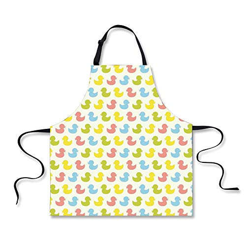 iPrint Cooking Apron,Rubber Duck,Colorful Ducklings Baby Ani
