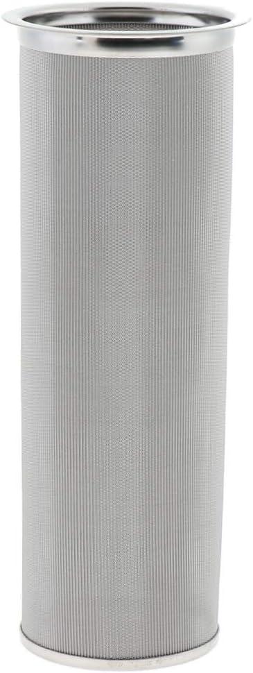 B Baosity Kaffeefilter Handfilter aus Edelstahl Einfach zu Reinigen 14,5 x 14,5 x 8 cm