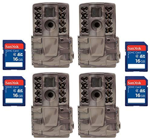 Moultrie (4) No Glow Invisible 12 MP Mini A20i IR Trail Game Cameras + SD Cards