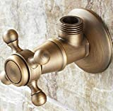 Taco Mocho Bathroom Accessories Antique Brass Wall Mounted 1 Pcs Angle Stop Valve Male Thread