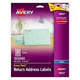Avery Easy Peel Return Address Labels for Inkjet Printers, 0.5 x 1.75 Inches, Clear, 6 Pack of 800 (18667)
