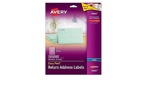Amazon Avery Easy Peel Return Address Labels For Inkjet