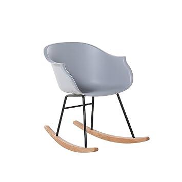 Phenomenal Beliani Modern Scandinavian Rocking Chair Natural Wood And Pdpeps Interior Chair Design Pdpepsorg