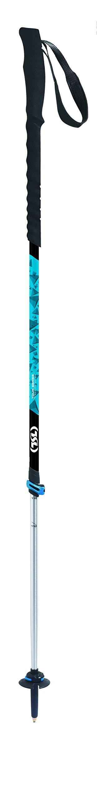 TSL Snowshoes Tour Traverse 2 Part Trekking Poles, Blue & Black, 34 To 55''