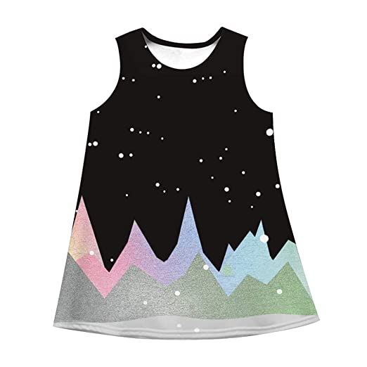 23e8e2b7f6895 Amazon.com: Mjuan Toddler Kids Girl Summer Sleeveless Dress 3D ...