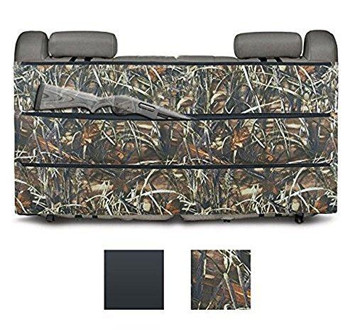 Deli Back Seat Gun Case & Organizer - Rifle Gun Holster Sling Organizer for Most SUV Trucks Vehicle Shotgun Storage Reed for Hunting Outdoor Sporting Camouflage (Shotgun Truck Rack)