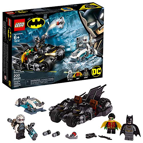 LEGO DC Batman Mr. Freeze Batcycle Battle 76118 Building Kit, New 2019 (200 Pieces) (Lego Minifigure Kid Flash)