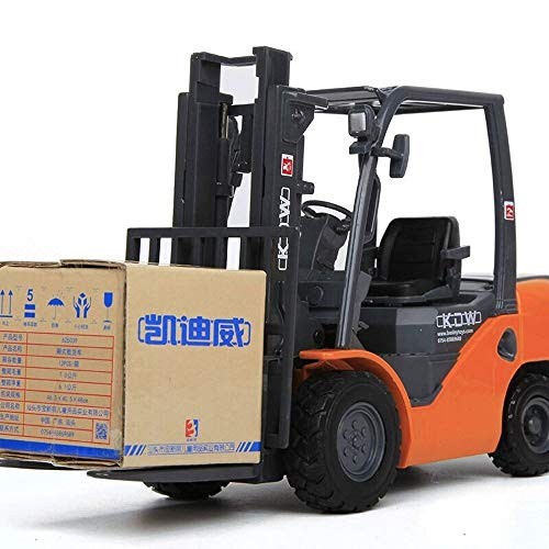 TBFEI 1:50 Scale Diecast Tow Truck Wrecker Road Models Model Construction VehiclesBulldozers, Excavators, Trucks, Road Rollers, Forklifts, Two-Way Rope Chippers ( Color : Forklifts )