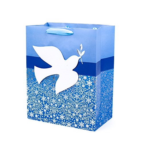 Hallmark Tree of Life Large Gift Bag (Dove on Blue)