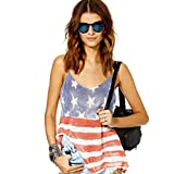 Baomabao Women American Flag Printing Vest Sleeveless Blouse Tank Tops T-Shirt