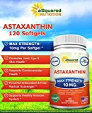 aSquared Nutrition Astaxanthin Supplement - Natural Astaxanthin Pills from Haematococcus Pluvialis Extract for Pure Energy - Max Strength 10mg - 120 Softgels