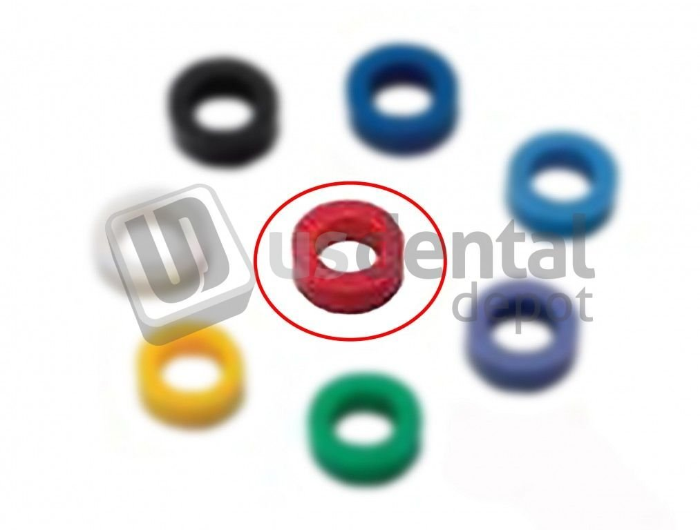 PLASDENT - Standard Color Code Rings - # 202CD-RED Silicone - 60Pcs/Box - Color: Coral - 65% los Plastic Sundries 001-202CD-RED DENMED Wholesale