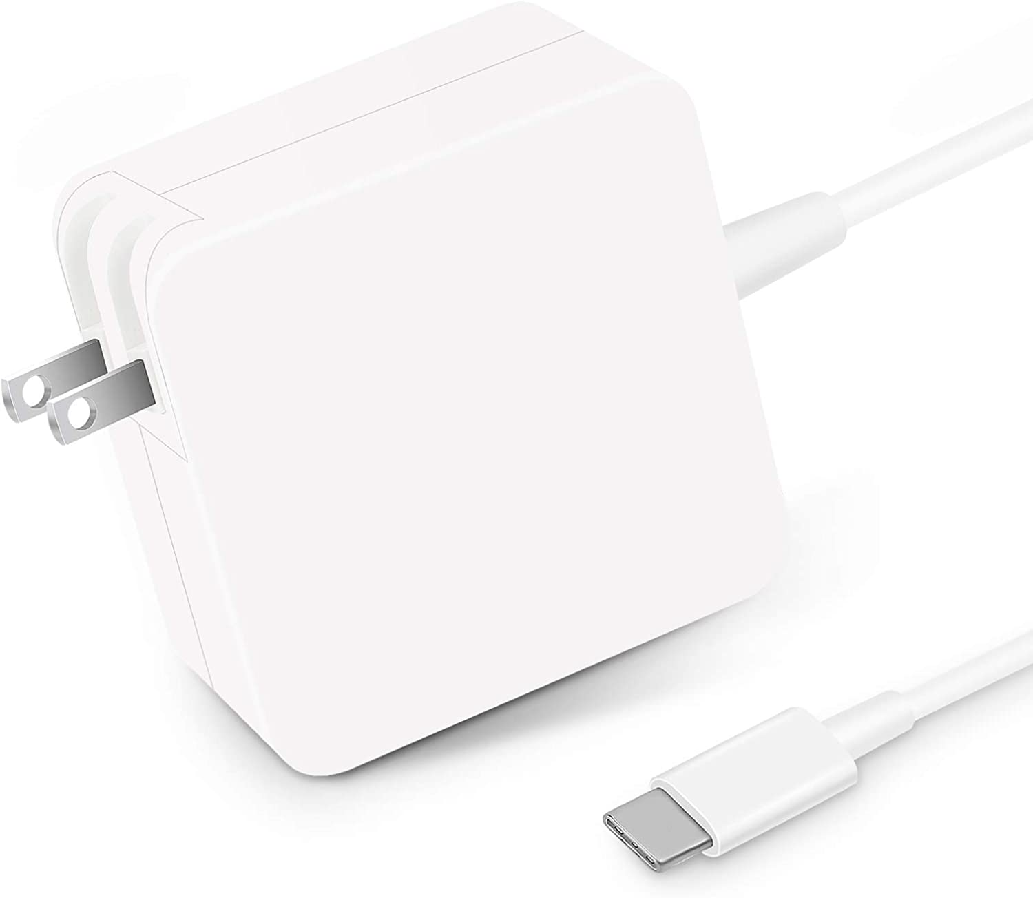 Huanxilu 61W PD Charger, USB-C Charger Compatible for MacBook Pro, Dell XPS, Chromebook, Lenovo, Huawei Matebook, HP Spectre, Acer and Any Laptops or Smart Phones with USB C