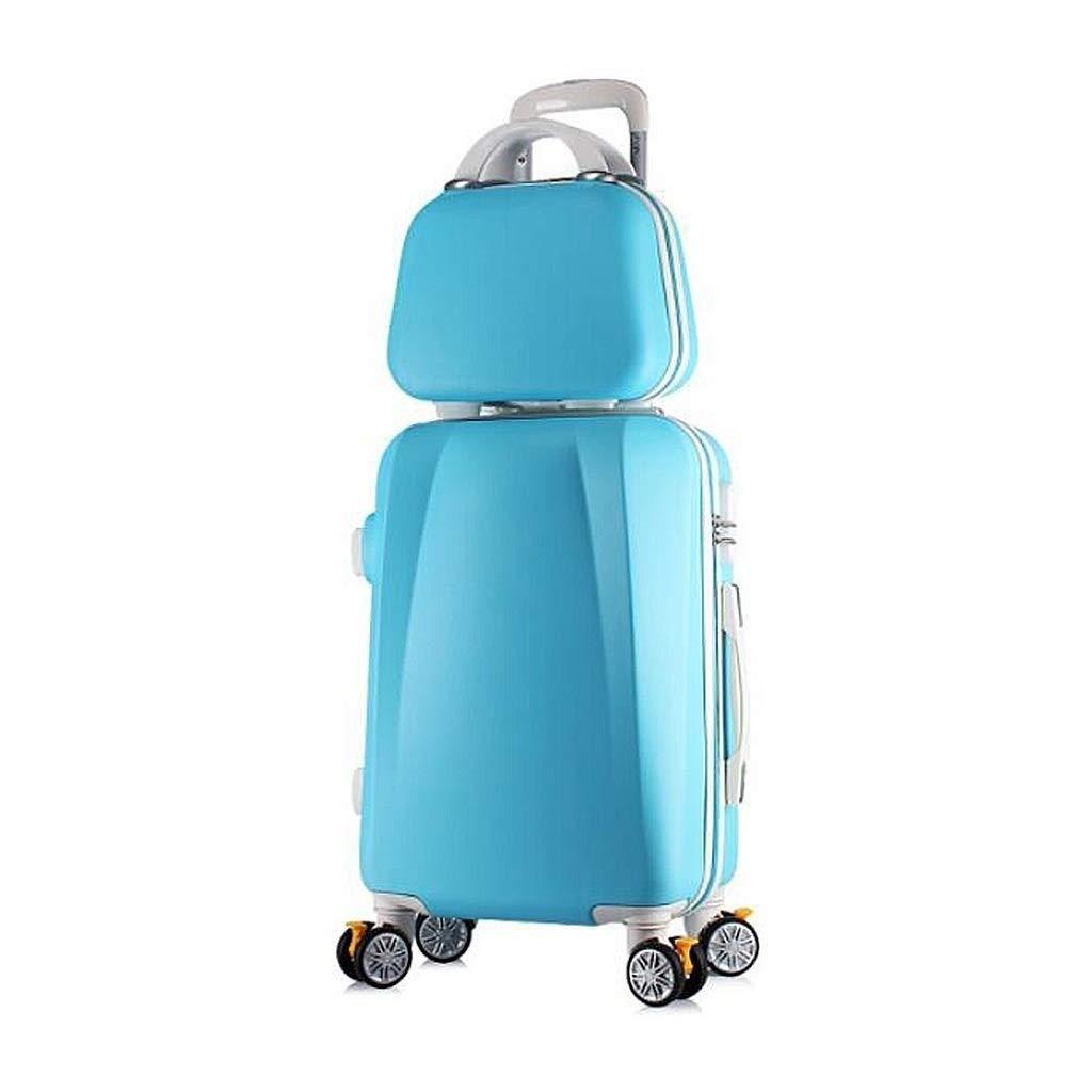 普遍的な回転車輪およびパスワードロックが付いている荷物の堅い貝の荷物のスーツケースを続けて下さい B07SKGMBVZ Blue 26in