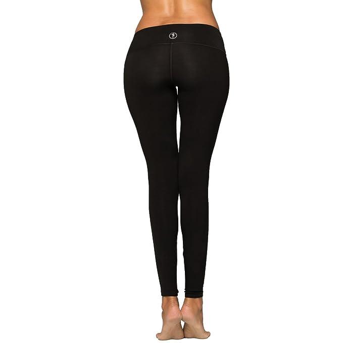 Amazon.com: Negro Largo Yoga para Mujer por yogiiza en Pima ...