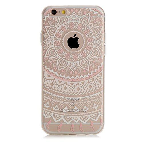 Arktis iPhone 8 / 7 Traumfänger Mandala Case Schutzhülle Hülle - Weiß Rosa