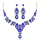 Product review for YAZILIND Wedding Bridal Waterdrop Star Rhinestone Pendant Necklace Bride Dangle Earrings Jewelry Set