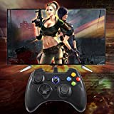 EasySMX Wired Game Controller Joystick with Dual-Vibration TURBO and TRIGGER Buttons for Windows/ Android/ PS3/ TV Box (Black)