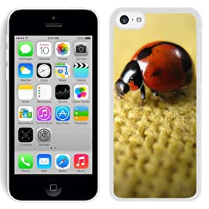 New Beautiful Custom Designed Cover Case For iPhone 5C With Ladybird On Flax (2) Phone Case