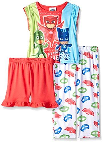 AME Toddler Girls PJ Masks 3-Piece Pajama Set