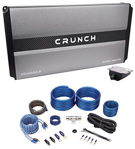 (Crunch PD4000.2 4000w 2-Channel Pro Power Car Audio Amplifier Class AB+Amp Kit)