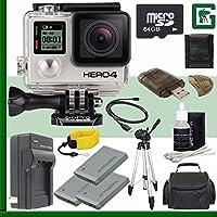 GoPro HERO4 BLACK 4K Action Camera + 64GB Greens Camera Bundle 4