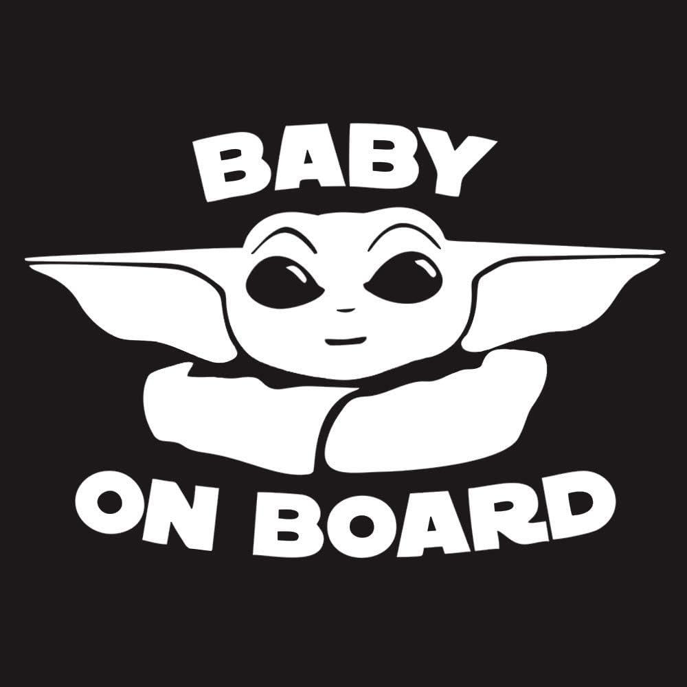 Sticker for Car Window Baby on Board Baby Yoda Decal Mandalorian Star Wars Truck Vehicle Bumper Laptop Notebook 5x3 Vinyl Cute Green Baby Alien Decal