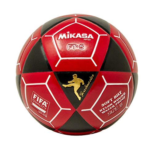 - Mikasa FT5 Goal Master Soccer Ball, Black/Red, Size 5