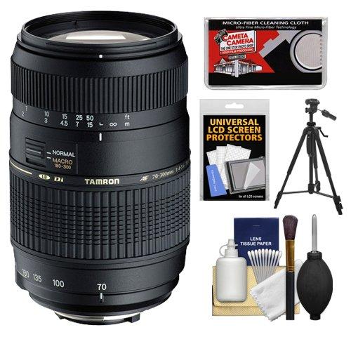 - Tamron AF 70-300mm F/4-5.6 Di LD Macro Lens + Tripod + Accessory Kit for Nikon D3200, D3300, D5200, D5300, D7000, D7100 Digital SLR Cameras