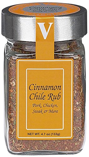 Cinnamon Chile Rub – Victoria Taylors 4.7 OZ Jar – Organic Blend of Red Peppers, Nutmeg, Chipotle, Ginger, Chili, Demerara Sugar, and Herbs like Parsley, Garlic, Green Onion and Onion makes a Gourmet Spice Mix – Ideal Seasoning for: Chicken, Pork, and Steak. Dry Rub makes any Meat delicious for the Grill! - Red Chile Chipotle