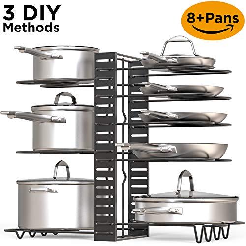 Metal Kitchen Cabinet Pantry Pot & Lid Holder